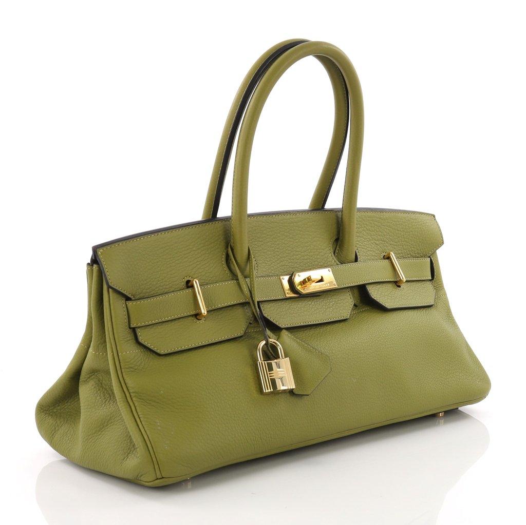 Hermes Replica Birkin JPG Handbag Vert Chartreuse Togo with Gold Hardware 42 53ae00c95d
